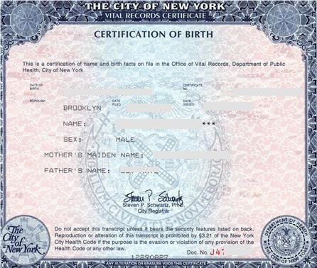 New york birth certificate short form eligible for apostille