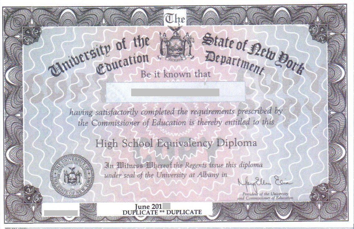 new york high school equivalency diploma 1