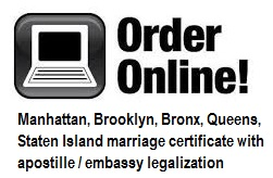 order online manhattan brooklyn bronx queens staten island marriage certificate