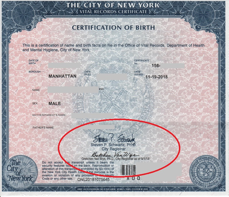 where to get a birth certificate in nyc