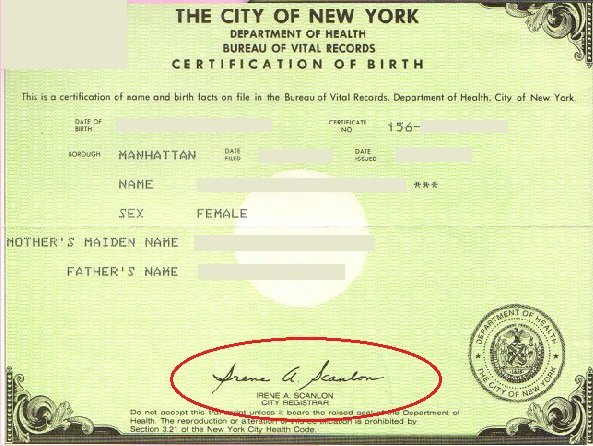 birth certificate new york old acceptable for Apostille